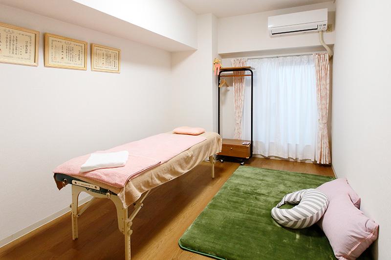 芦屋たなべまり鍼灸院の施術室